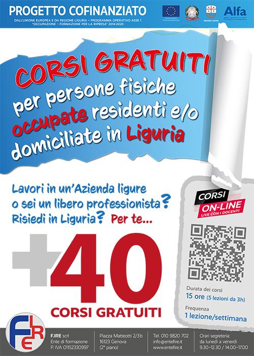 La locandina per le strade di Genova